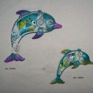 Delfini metallo smaltato