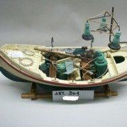Barca legno da pesca