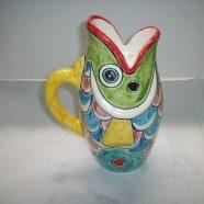 Brocca pesce ceramica