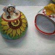 Portaspugna donna ceramica