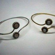 Bracciale argento con doppio cammeo