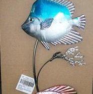 Decorazione da muro con tre pesci metallo
