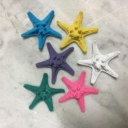 Stelle resina colorate cm 6