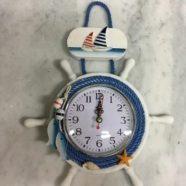 Timone legno con orologio cm 26×22