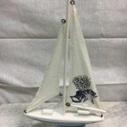 Barca legno cm 33×19