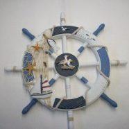 Timone piccolo con rete e barca cm 45