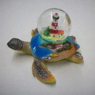 Tartaruga resina con bolla