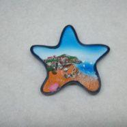 Magnete stella con paesaggio