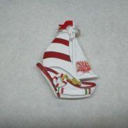 Magnete barca bianco rossa