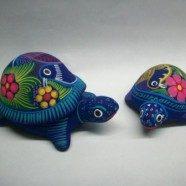 Tartarughe in ceramica guerrero semplice o scatola