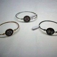 Bracciale in argento con cammeo centrale  e zirconi