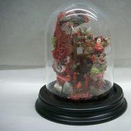 Campana vetro con presepe in corallo