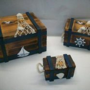 Tris bauletti legno cm 17