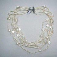Collana con sei fili perle di fiume
